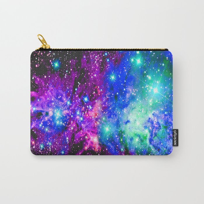 Fox Fur Nebula Galaxy Pink Purple Blue Carry-All Pouch