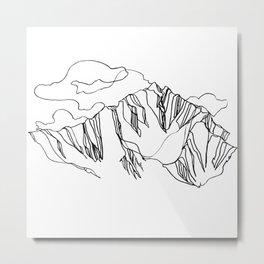 Blue Ridge :: Single Line Metal Print