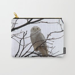Snowy Owl in the Treetop Carry-All Pouch