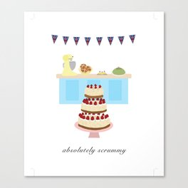 Absolutely Scrummy : Great British baking Canvas Print