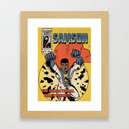 Colored Comics Presents Samson No.1 Framed Art Print