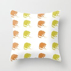 Autumn Cat with Mouse Textile Throw Pillow