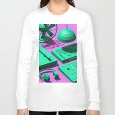 Low Poly Studio Objects 3D Illustration Long Sleeve T-shirt