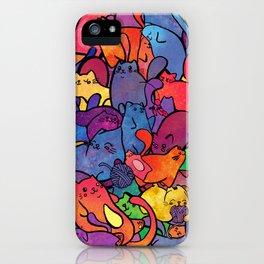 Bubblegum Kitty Rainbow Galaxy iPhone Case