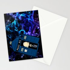 Tardis in space Doctor Who 1 Stationery Cards
