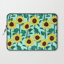 Sunny Sunflowers - Mint Laptop Sleeve