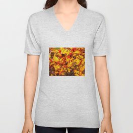 Red and Yellow Unisex V-Neck
