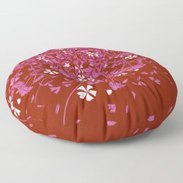 Lesbian Pride Scattered Falling Flowers and Leaves Floor Pillow