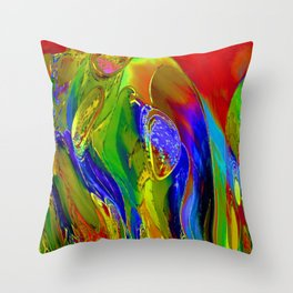 Luna Garden Throw Pillow