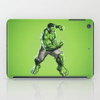 hulk iPad Cases featuring HULK by Hands in the Sky