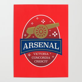 North London Red Football Poster