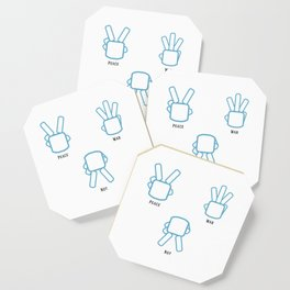 Peace Not War Coaster