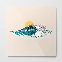 Balinese Wave Metal Print