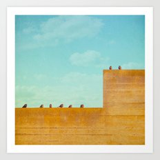 Birds on a Wall Art Print