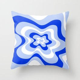 Abstract pattern - blue and white. Throw Pillow