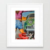 rock n roll Framed Art Prints featuring Rock n Roll 2 by Jan Helge