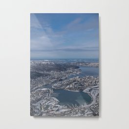 Winter City Metal Print