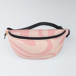 Soft Blush Pink Liquid Swirl Modern Abstract Pattern Fanny Pack