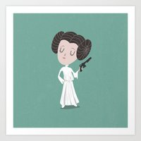 leia Art Prints featuring Leia  by Rod Perich