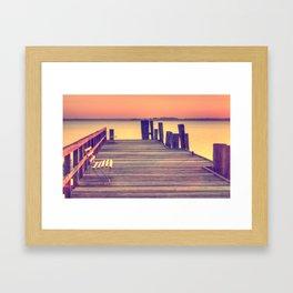 Sunset Bench I Framed Art Print