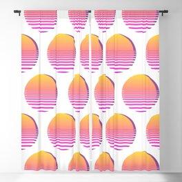 80s Gradient Retro Vaporwave Sun Blackout Curtain