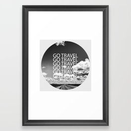 Go travel! - By Rasmus Verdier Framed Art Print