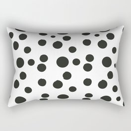 Black & white polka dot pattern Rectangular Pillow