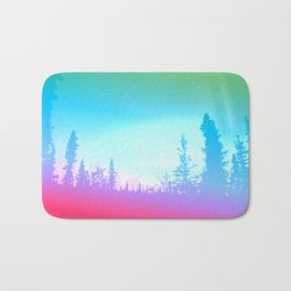 Bright Colorful Forest Bath Mat