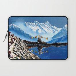 Panoramic View Of Annapurna Mountain Nepal Laptop Sleeve