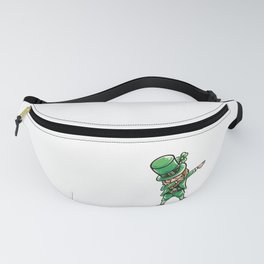 Funny Dabbing leprechaun design - perfect gift for St Patrick Fanny Pack
