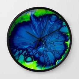 Indigo hibiscus Wall Clock
