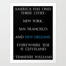 Tennessee Williams Art Print