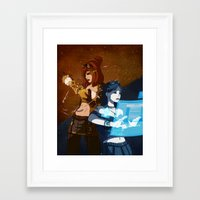 steam punk Framed Art Prints featuring Steam/Cyber Punk by Waffle Guru