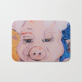 Blue Ribbon Pig Bath Mat