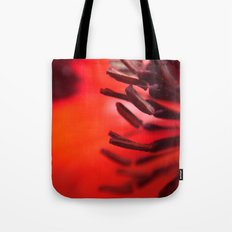 Abstract Red Poppy Tote Bag