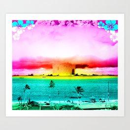 atomic sunset Art Print