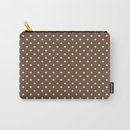 Dots (White/Coffee) Carry-All Pouch