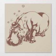 Hippo-Thesis Canvas Print