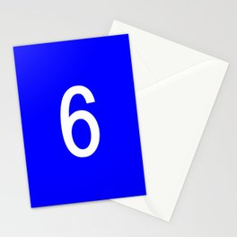 NUMBER 6 (WHITE-BLUE) Stationery Cards