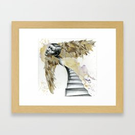 Of the Wide, White Stairs Framed Art Print