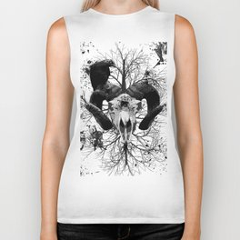 Wings and Horns of Death Biker Tank