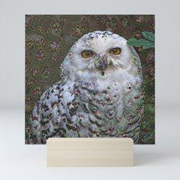Dream Creatures, Snowy Owl, DeepDream Mini Art Print