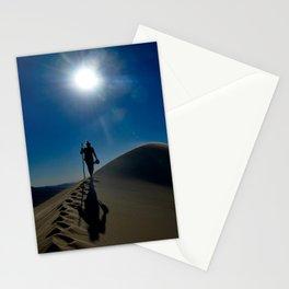 Walking on sand dunes Stationery Cards