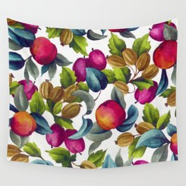 Watercolor Fruit Wall Tapestry