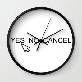 YES NO CANCEL Wall Clock