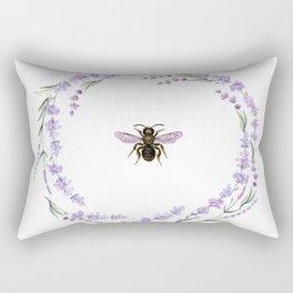 Lavender Bee Rectangular Pillow