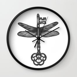 Dragonfly Key Wall Clock