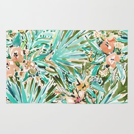 FAN OUT Tropical Palmetto Floral Rug
