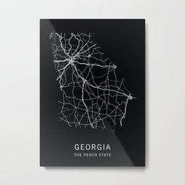 Georgia State Road Map Metal Print