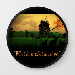 What Is, Is What Must Be Wall Clock